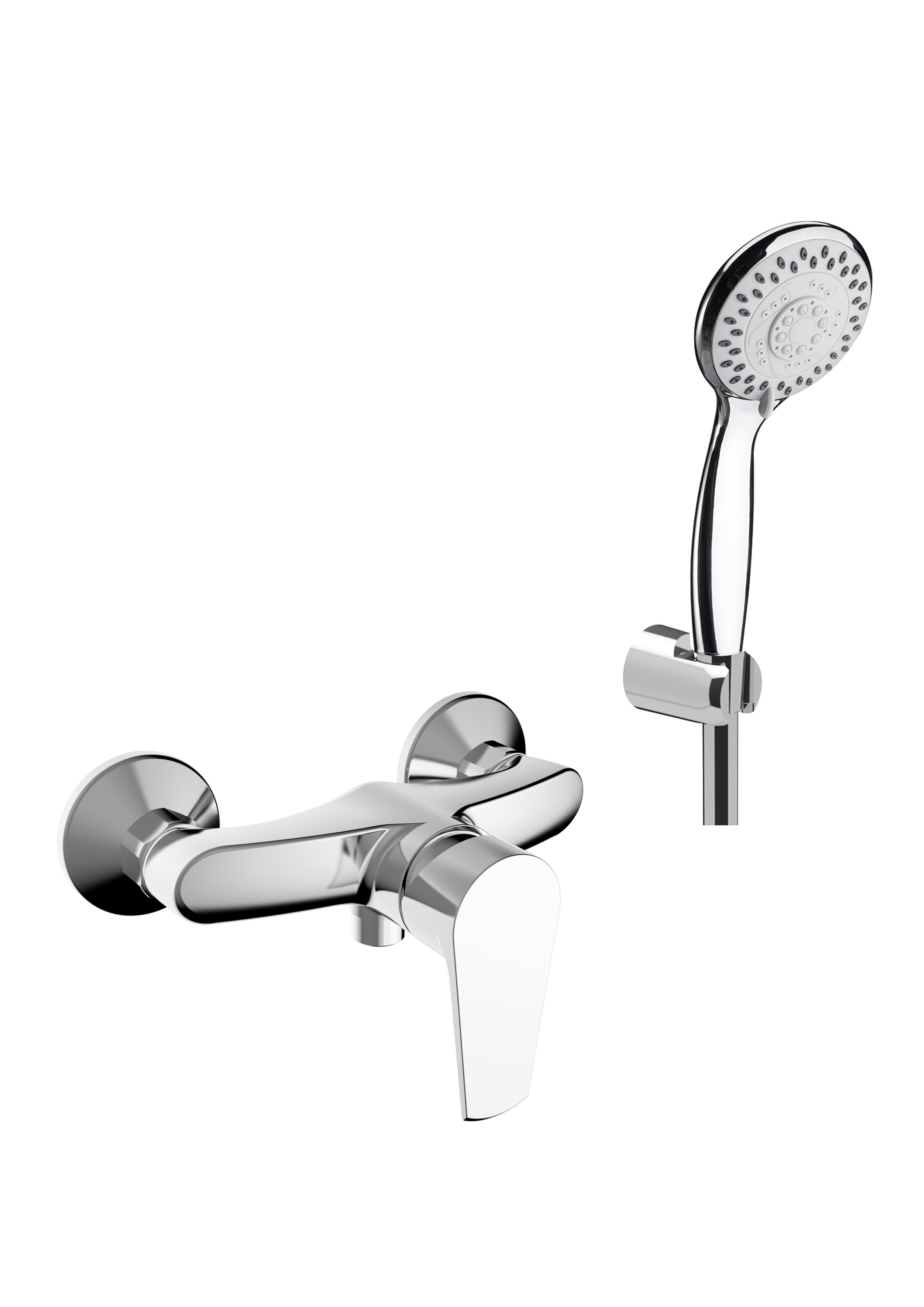 Immagine HD VELVET Shower mixer with shower set