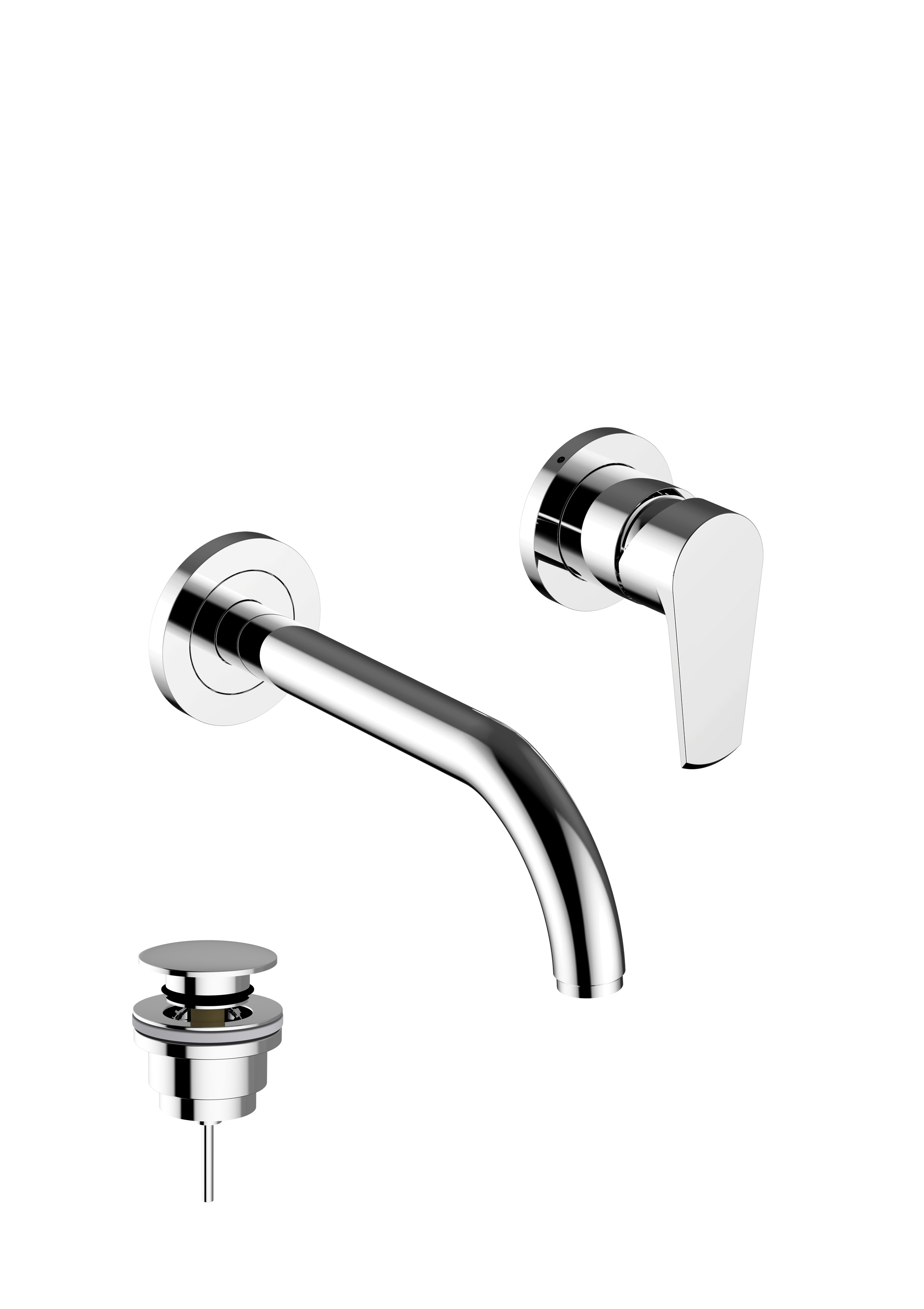 Immagine HD VELVET Wall mounted concealed basin mixer – 2 pcs, with click clack waste