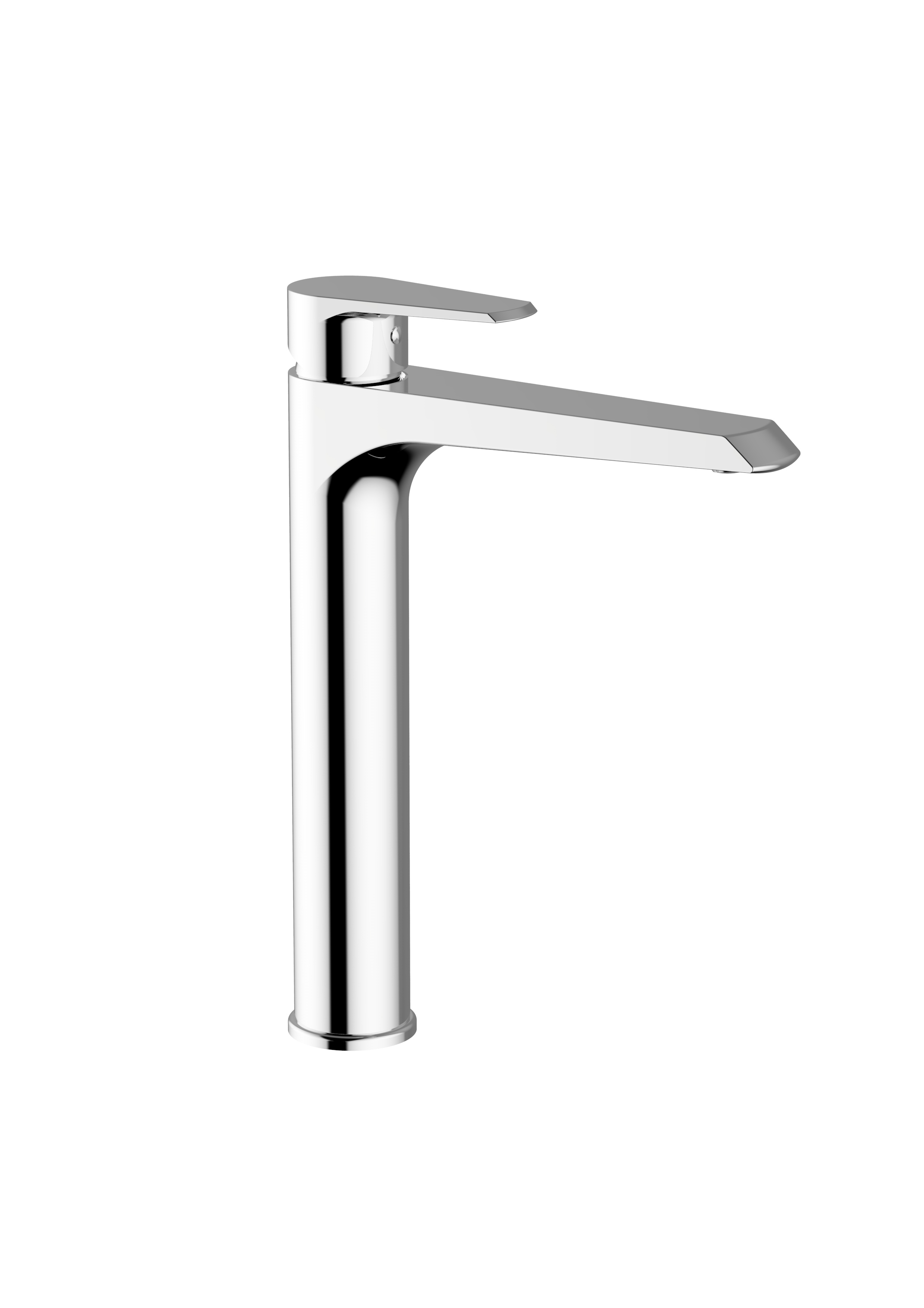 Immagine HD VELVET High wash basin mixer with pop-up waste